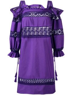 платье с вышивкой Alberta Ferretti