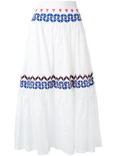 пышная юбка с вышивками Temperley London