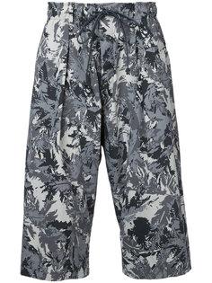 укороченные брюки с принтом  Kazuyuki Kumagai