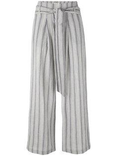 укороченные брюки в полоску  Masscob