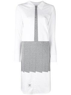 платье-рубашка кроя миди Thom Browne