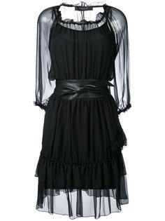 прозрачное платье с поясом Federica Tosi