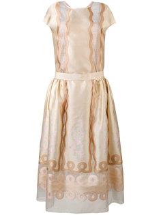платье с панельным дизайном Fendi