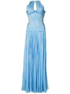 плиссированное платье в пол J. Mendel