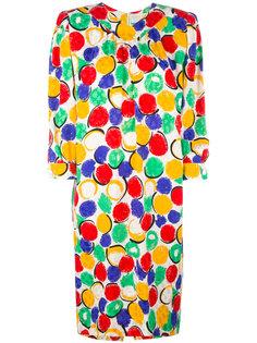 платье с принтом  Nina Ricci Vintage