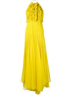 вечернее платье с оборками Maria Lucia Hohan