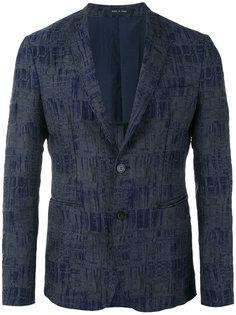 пиджак с геометрическим узором Emporio Armani