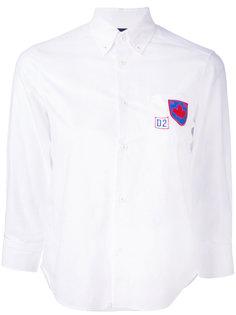 рубашка с заплаткой с логотипом Dsquared2