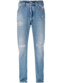 джинсы кроя слим с потертой отделкой Cycle