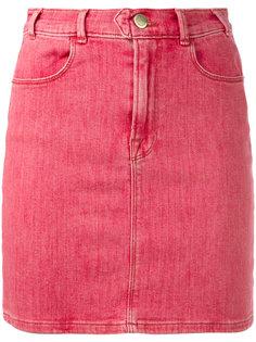 джинсовая юбка в стиле ретро Frame Denim