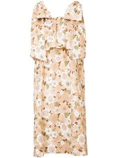 платье с цветочным узором Chloé