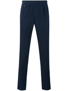 зауженные брюки с откидным клапаном Incotex