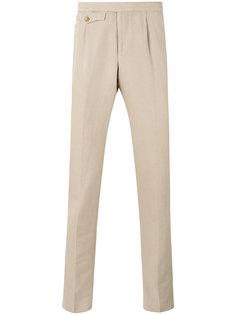 классические зауженные брюки Incotex