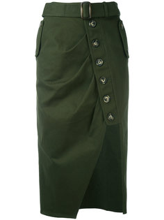 асимметричная юбка на пуговицах Self-Portrait