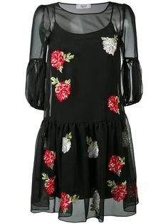 платье с цветочной вышивкой Blugirl