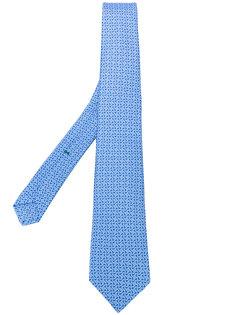 галстук с геометрическим узором Borrelli