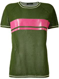 футболка с контрастной панелью Roberto Collina