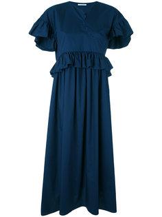 платье макси с оборкой  Vivetta
