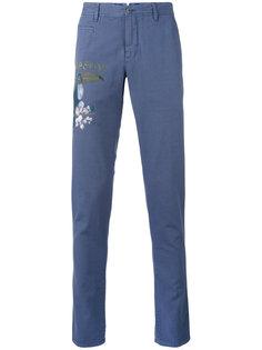 брюки с рисунком тукана Pt01