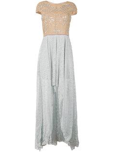 кружевное платье с вышивкой Amen Amen.
