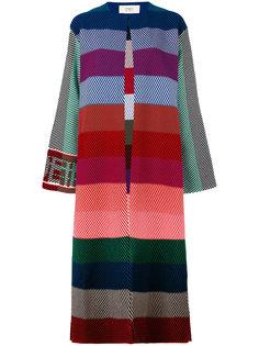 длинное полосатое пальто Ports 1961