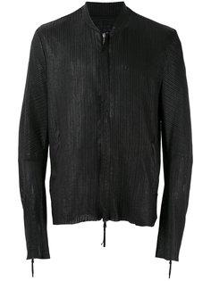 фактурная кожаная куртка-бомбер Cedric Jacquemyn