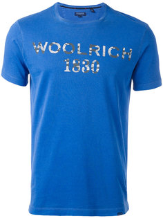 футболка с принтом-логотипом Woolrich