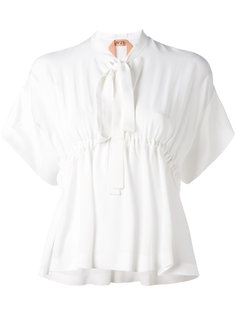 блузка с завязками на горловине Nº21