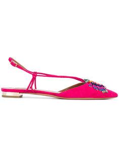 декорированные туфли на плоской подошве Aquazzura