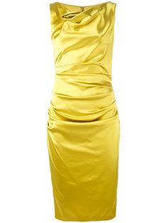 драпированное платье с отвисающей горловиной Talbot Runhof