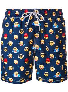 шорты для плавания с принтом эмоджи Mc2 Saint Barth