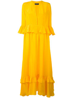 платье макси с оборкой  Rossella Jardini