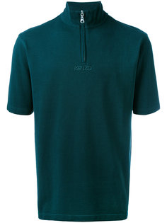 футболка-поло с вырезом на молнии Kenzo