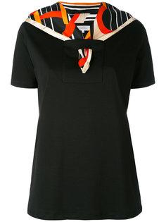 футболка с шелковым шарфом с рисунком Carven