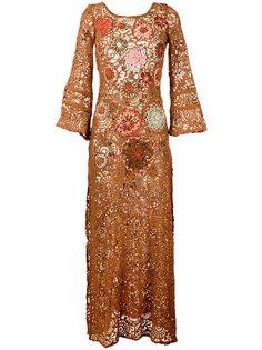 платье с цветочной вышивкой  Anjuna