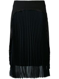 юбка-карандаш с плиссировками спереди Maison Margiela