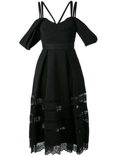 платье с открытыми плечами Self-Portrait