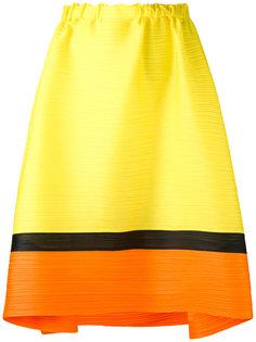 плиссированная юбка с контрастной полосой Pleats Please By Issey Miyake