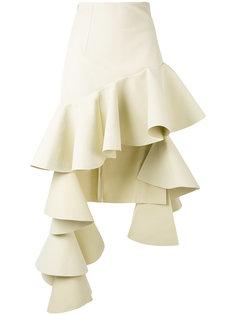 асимметричная юбка с рюшами Jacquemus