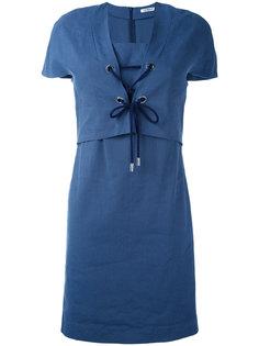 платье с короткими рукавами и шнуровкой Cacharel