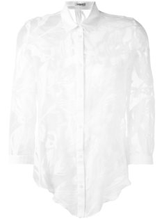 прозрачная рубашка с растительным принтом Cacharel