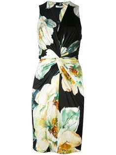 платье с цветочным рисунком Lanvin