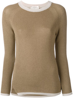 свитер с контрастным воротом  Zanone