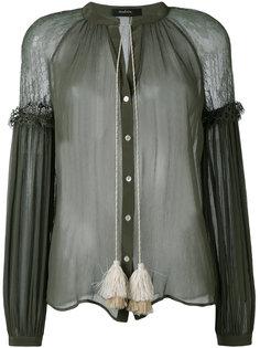прозрачная блузка с бахромой Wandering