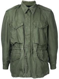 куртка в стиле милитари с принтом звезд Icons