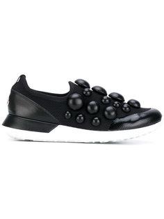 кроссовки без застежки с объемным декором Moncler