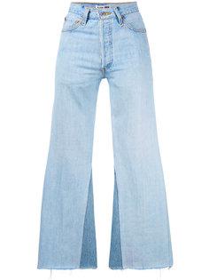 расклешенные джинсы с необработанными краями Re/Done