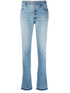 расклешенные джинсы с потертой отделкой Re/Done