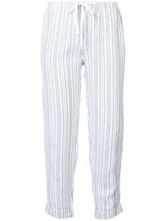 укороченные брюки в полоску Joie
