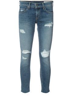 укороченные джинсы кроя скинни Rag & Bone /Jean